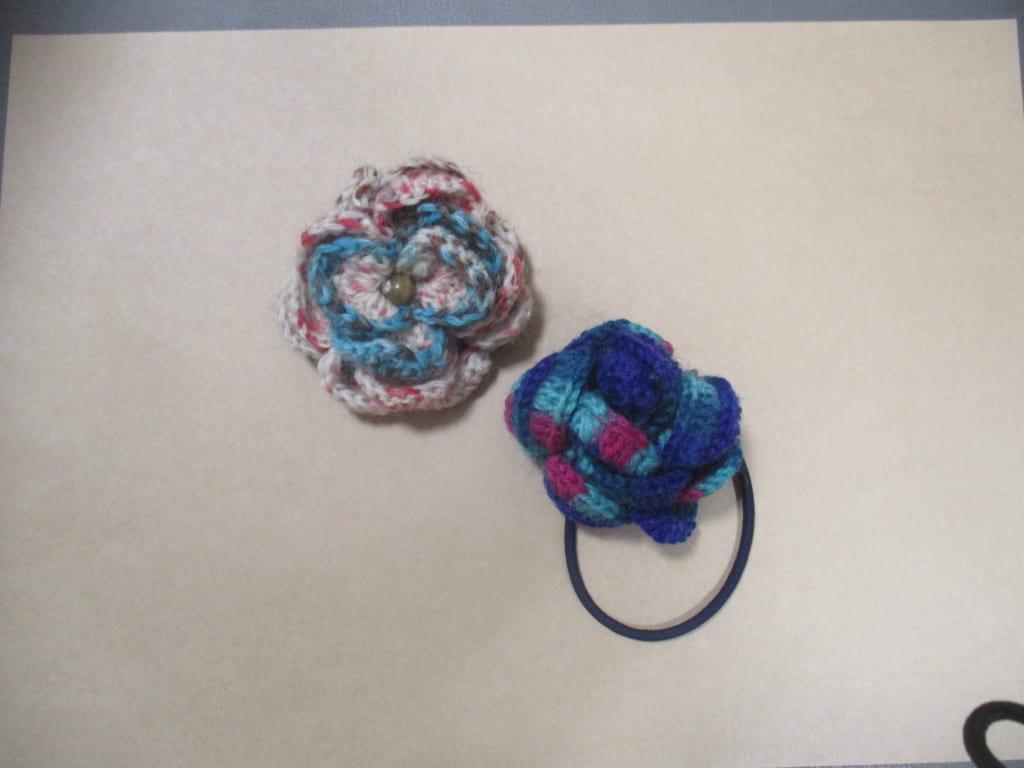 花モチーフ編み