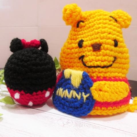 アクリル毛糸でディズニーエコタワシを編んじゃおう!