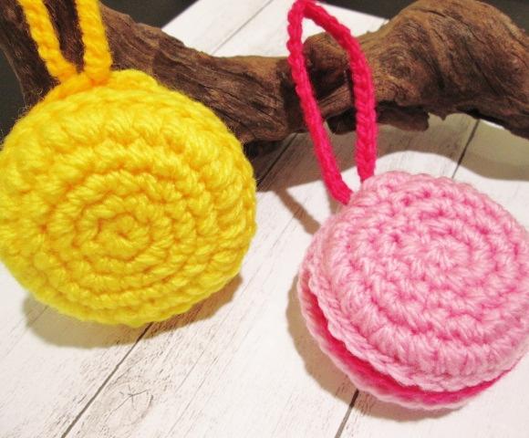 アクリル毛糸でマカロンのエコタワシを編んじゃおう!