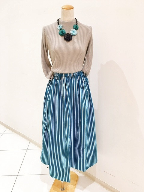 素敵なかんたん春のギャザースカート