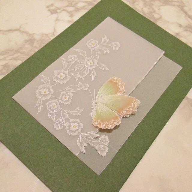 パーチメントクラフト 【蝶のカード】