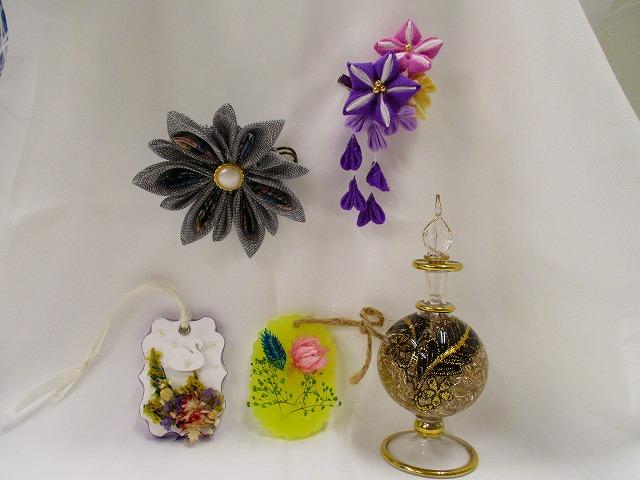 布のお花アクセサリー